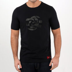 Black Abstract Circle Men's T-shirt