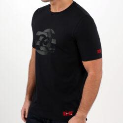 Black Abstract Circle Men's T-shirt