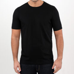 Men's Black T-shirt – Supima cotton