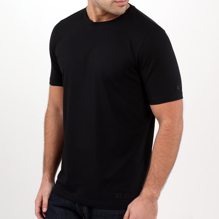 men's black supima cotton t-shirt by Retro Red