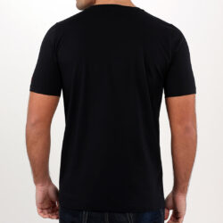 Black Abstract Face Gel Print T-shirt