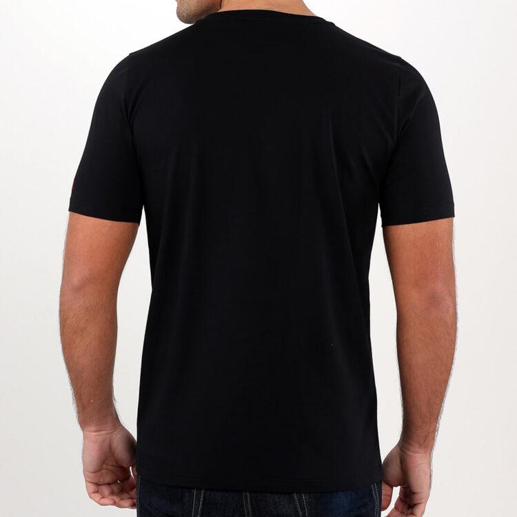 Mens Black T-shirt Retro Red