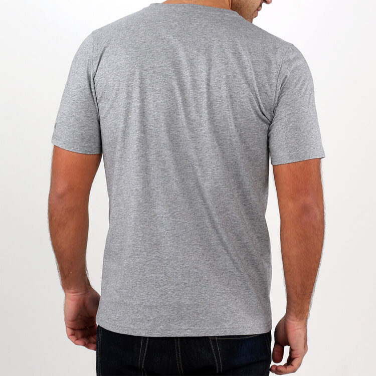 Mens Grey T-shirt back Retro Red
