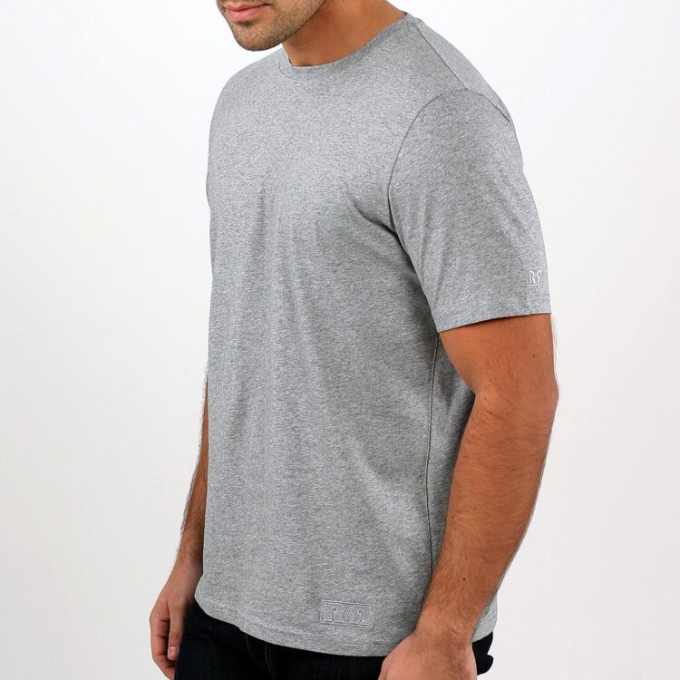 Mens Grey T-shirt side Retro Red