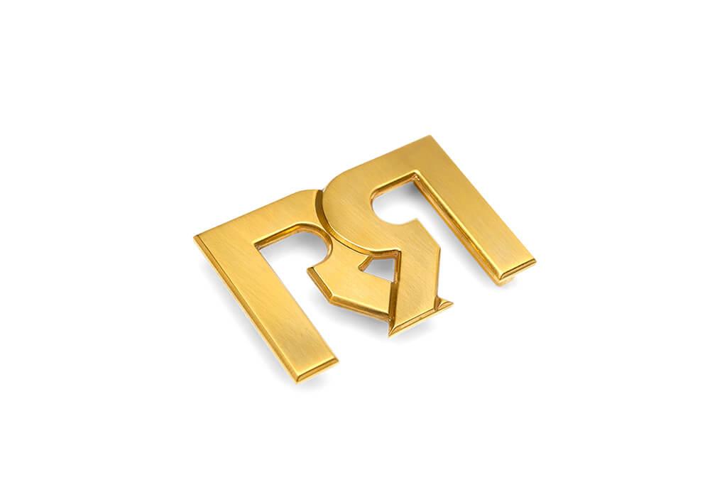 RX2 Brushed 24 Karat Gold Plated Belt buckle