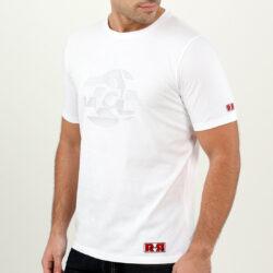 White Abstract Circle Men's T-shirt