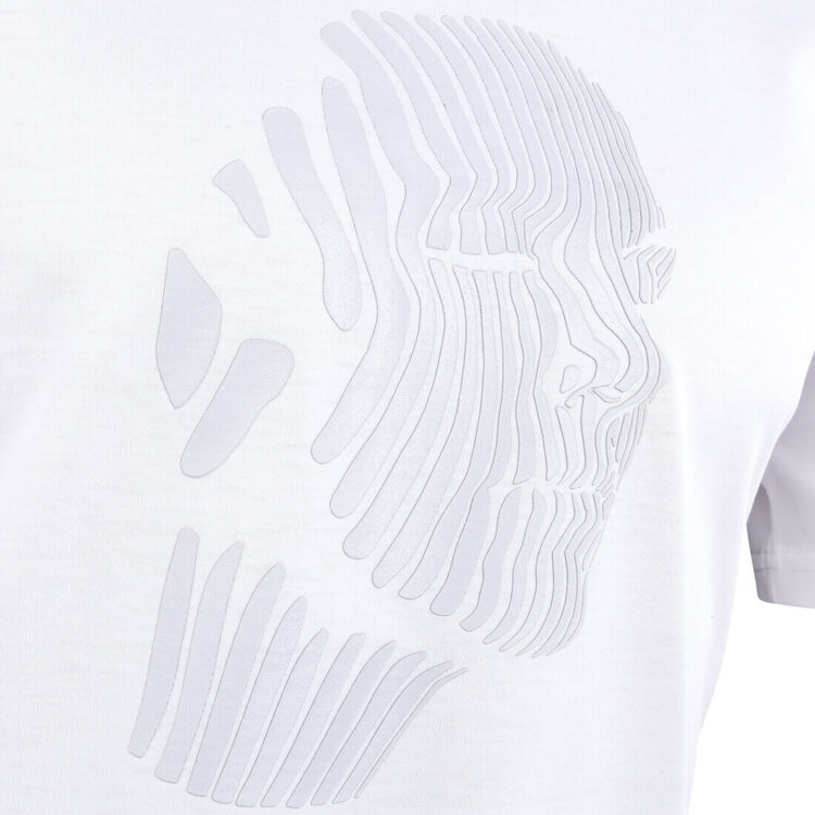 White Abstract Face Mens T-shirt Print