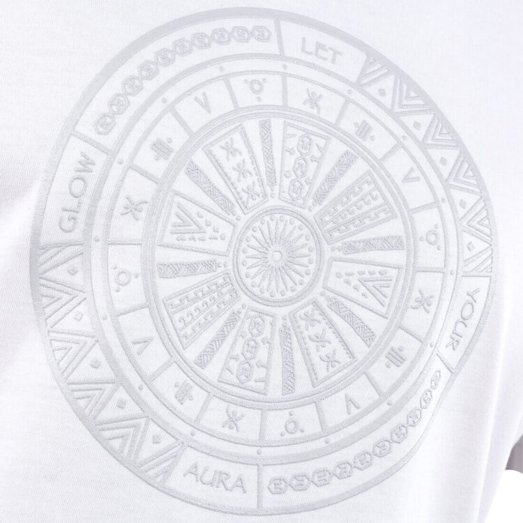 White Aztec Tattoo Mens T-shirt Print