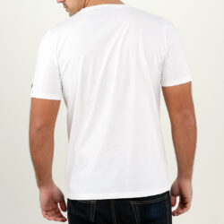 White Abstract Circle Gel Print T-shirt