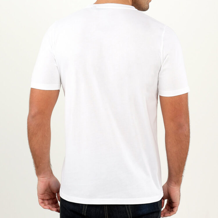 Men's White T-shirt in Supima Cotton by Retro Red