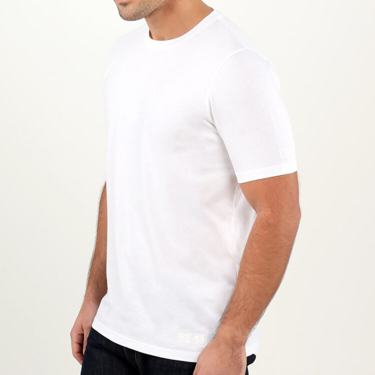 Men's White T-shirt Supima Cotton by Retro Red