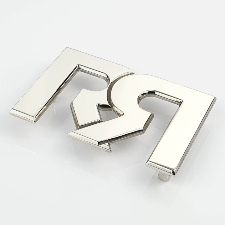 RR Polished Palladium plated Belt Buckle