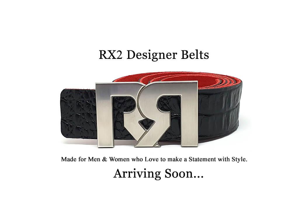 Retro Red Designer Belts for Men & Women