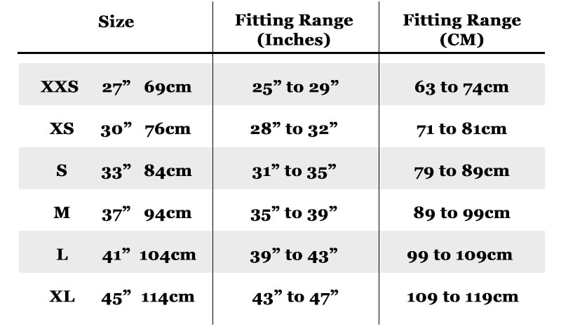 Retro Red Belt Size Guide for Women