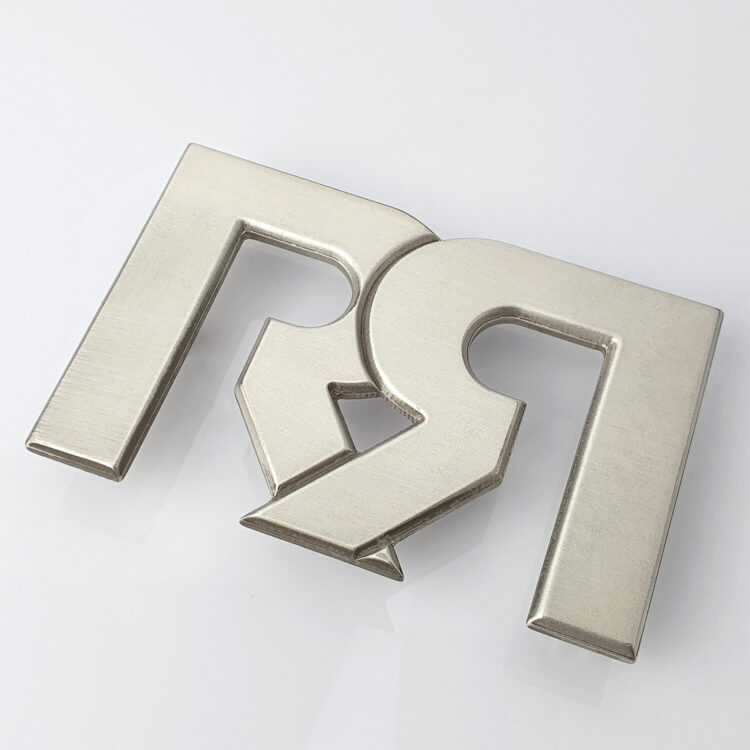 RR Brushed Silver plated Belt Buckle