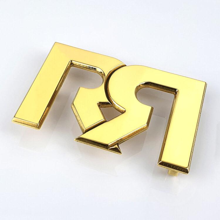 RR Polished 24 karat Gold plated Belt Buckle