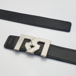 Men's Black & Brown leather belts with Silver plated RR buckle