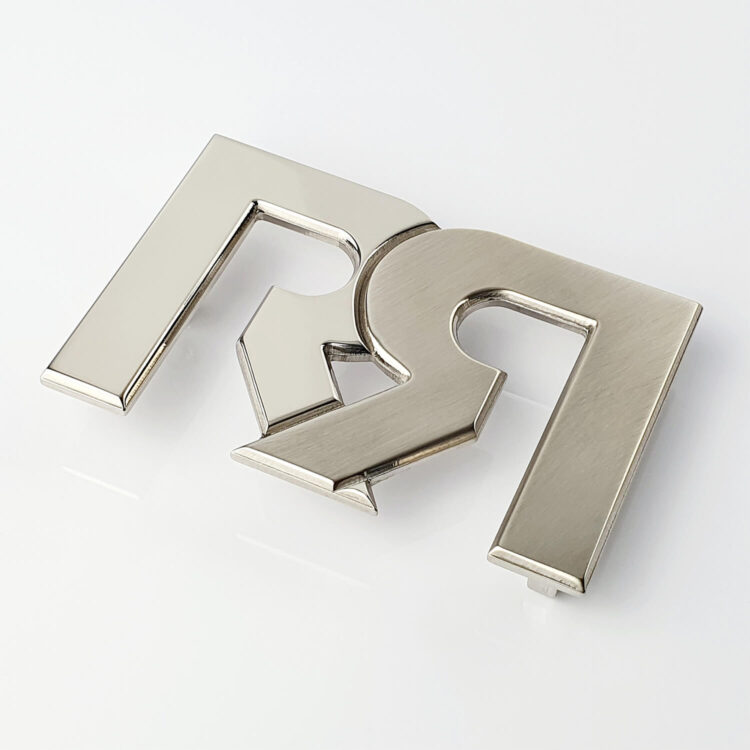 RR Two tone Palladium plated Belt Buckle