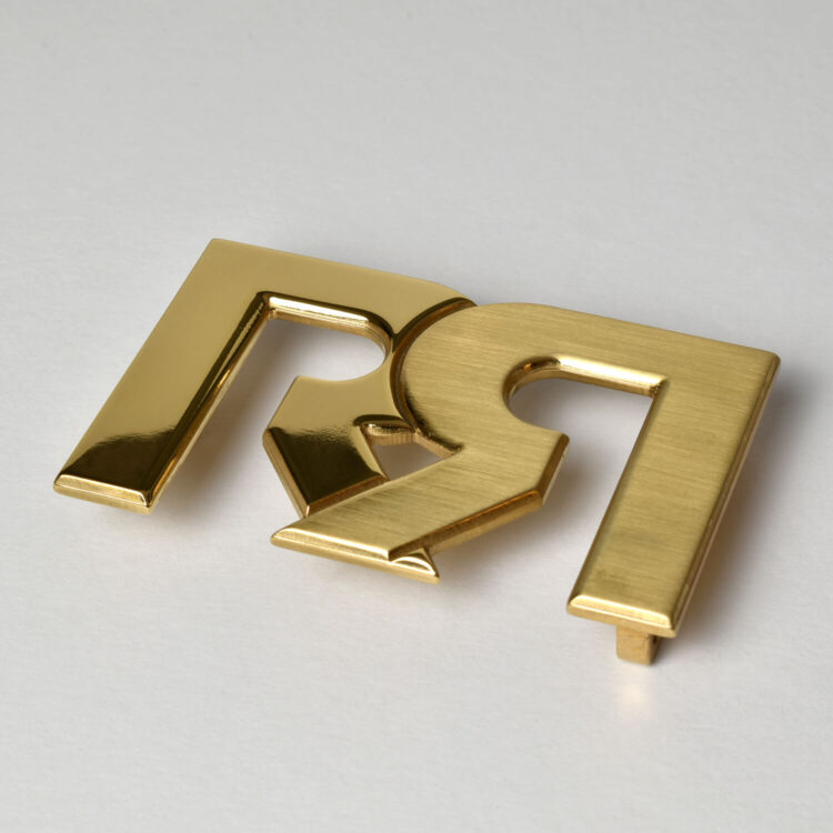 RR Two tone Gold belt buckle Retro Red