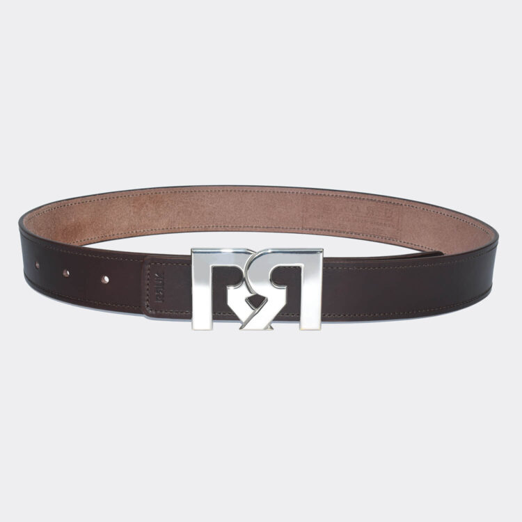 RR Palladium Plated Buckle with Brown Designer Belt