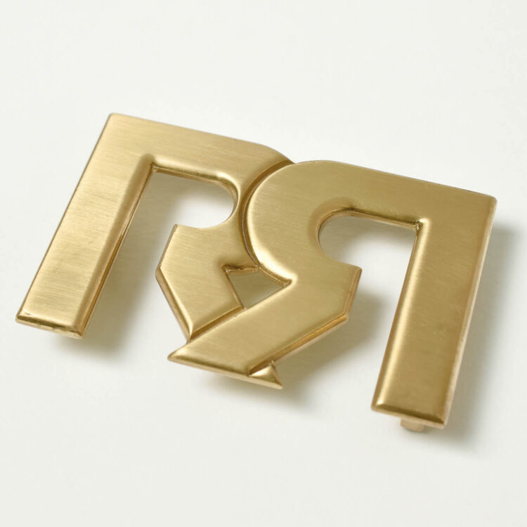 Brushed Gold plated RR Belt Buckle
