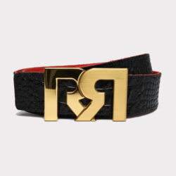 RR 2T GOLD WITH BROWN & CROC EMBOSSED BELTS