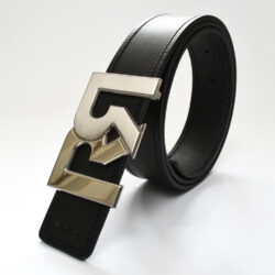 RR 2T PALLADIUM WITH BLACK & CROC EMBOSSED BELTS