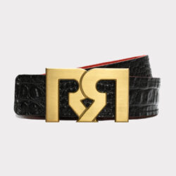 RR B-GOLD WITH BLACK & CROC EMBOSSED BELTS