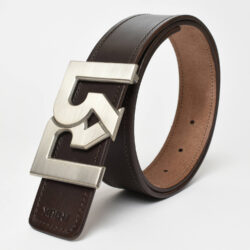 RR B-SILVER WITH BROWN & CROC EMBOSSED BELTS