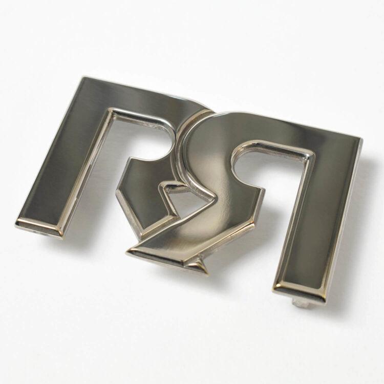 Polished Palladium RR Belt Buckle