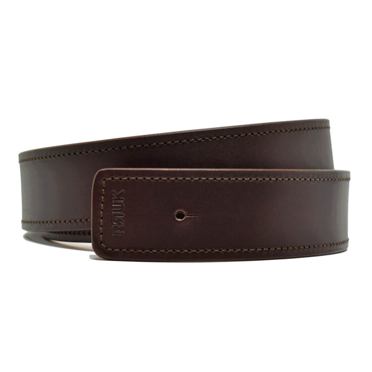 Brown Leather Belt by Retro Red