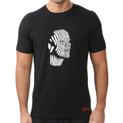 Mono Abstract Face Gel Print T-shirt