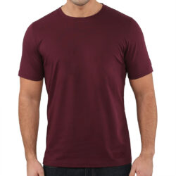 Bordeaux Red Cotton-Jersey T-shirt