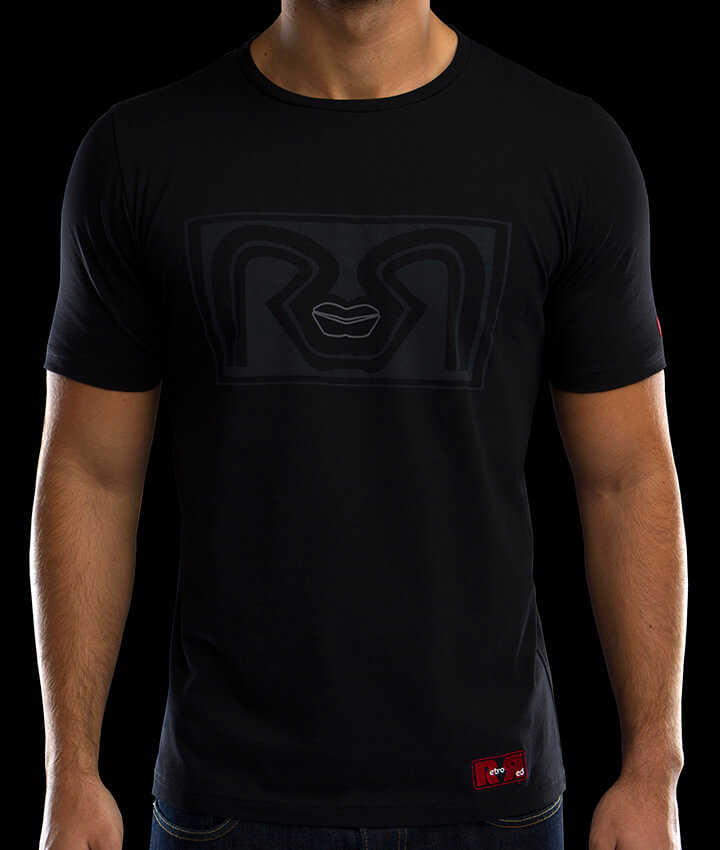 T-shirts for Men Black RR Lips Retro Red